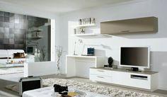 Büro und Wohnzimmer Kombination