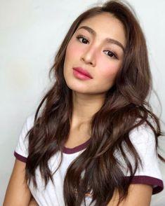 #Makeup #NadineLustre Nadine Lustre Makeup, Nadine Lustre Outfits, Glam Makeup, Beauty Makeup, Hair Beauty, Makeup Pro, Belliage Hair, Lady Luster, Filipina Beauty
