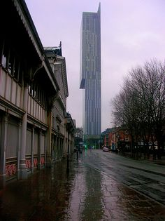 Beetham Tower from Liverpool Road, Manchester, England, United Kingdom, 2013, photograph by Lawrence Peregrine-Trousers.