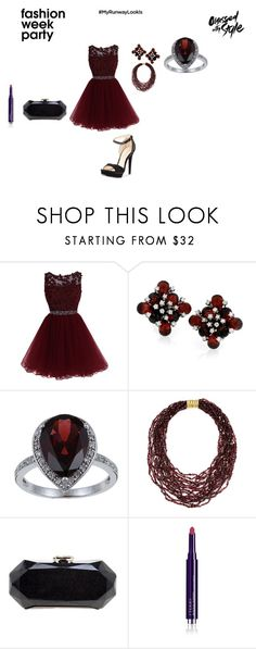 """""""Garnet Fashion"""" by hanna-debruhl ❤ liked on Polyvore featuring Viducci, Arthur Marder Fine Jewelry, Chanel, By Terry and Pelle Moda"""
