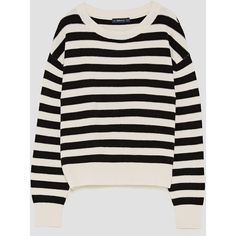 STRIPED SWEATER WITH ROUND NECKLINE - NEW IN-WOMAN | ZARA United... ($36) ❤ liked on Polyvore featuring tops, sweaters, round neck sweater, multi stripe sweater, round neck top, striped sweater and striped top