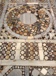 Detail from floor of Basilica di Santa Maria Assunta in Torcello, Italy