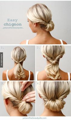 Easy Chignon and that color