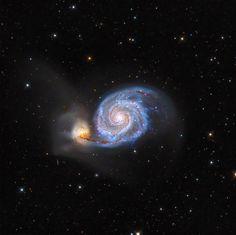 La muy fotogénica Galaxia del Remolino. Foto: Leonardo Orazi. publicado por: @AtikCameras