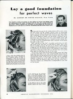 Beauty is a thing of the past: Lay a Good Foundation for Perfect Waves 1940s Hairstyles, Hairstyles For School, Cool Hairstyles, Wet Set, Grow Long Hair, Hair Setting, Finger Waves, Best Foundation, Good Hair Day