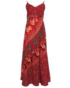 Fairtrade Strappy Indian Print Maxi Dress