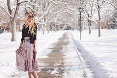 Holiday Series: Sequin Skirt Barefoot Blonde by Amber Fillerup Clark