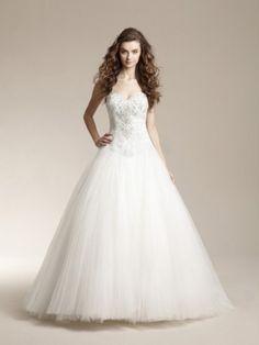 A-line/Princess Herz-Ausschnitt Perlenstickerei rmellos Hof-Schleppe Tulle Wedding Kleidenes
