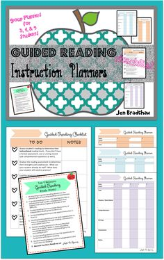 GUIDED READING Planner / organizer for 3, 4, and 5 students. Checklist for what you need to do before you every start! Perfect for RTI / reading interventions. #guided #reading #planner