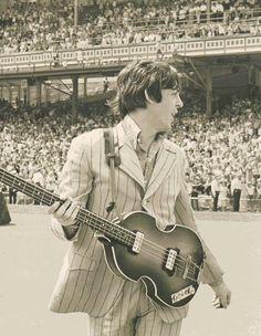 Paul McCartney ~ Beatles at Crosley Field ~ Cincinnati, Ohio ~ August 1966