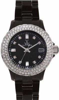 Toy Watch Plasteramic Black Crystal Ladies Watch PCS21BK Toy Watch. $269.05. Date Window. Stone Set Bezel. Stone Set Dot Dial
