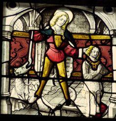 katholische Pfarrkirche Hl. Dreifaltigkeit in Ehrenstein, linkes Chorfenster…
