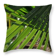 """Palm leaves Throw Pillow 14"""" x 14"""""""