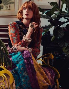 Florence Welch photographed by David Burton for the October issue of Elle Italia, October 2017 Stevie Nicks, Fleetwood Mac, Florence And The Machine, How Beautiful, Beautiful People, Florence Welch Style, David Burton, Boho Fashion, Girl Fashion