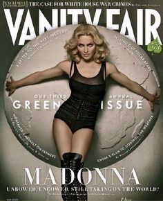 Madonna (in James Perse tank top, Dolce & Gabbana bodysuit, Azzedine Alaïa belt & Givenchy Haute Couture boots) photographed by Steven Meisel for Vanity Fair May 2008.