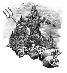 Shiv ki rachhna dharti ambar Devo ke swami shiv hai digambar Kal tehan shiv rundan poshit Hone na dete dharam ko dushit Aghori Shiva, Rudra Shiva, Mahakal Shiva, Shiva Tattoo Design, Sketch Tattoo Design, Arte Shiva, Lord Shiva Sketch, Mahadev Tattoo, Full Hand Tattoo