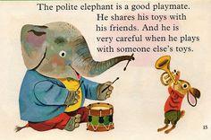 richard scary | why I love elephants...they are so polite! haha ~richard scarry