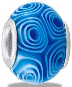 DaVinci Beads <br> Art Glass Blue Ripple