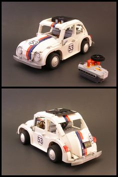 lego Herbie the love bug ahhh! Lego Cars, Lego Tv, Lego Trains, Volkswagen, Vw T1, Technique Lego, Construction Lego, Lego Activities, Cool Lego Creations