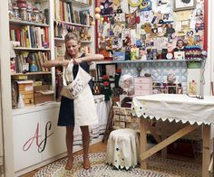Who would've thought funnywoman Amy Sedaris would have the sort of discombobulated studio I crave!