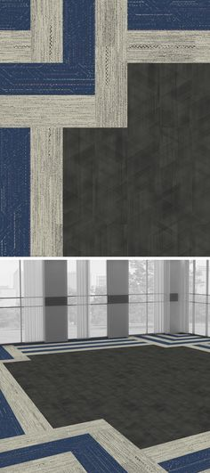 In honor of color of the year here's our take on designing with Classic Blue. Darning: BW Darning, Circuit Board: Blue Circuit, Drawn Lines: Onyx Darning, Circuit Board, Color Of The Year, Pantone Color, First World, Hospitality, Interiors, Colour, Beautiful