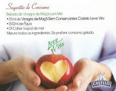 Vinagre Fruta Maçã S/Conservantes Castelo Leve Vita 500ml