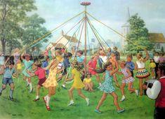 """Dancing round the maypole""."
