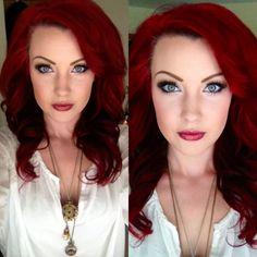 Pravana Vivids. Mac Makeup. I love the color of her hair