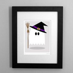 ghost witch   http://www.etsy.com/listing/80488063/ghost-in-a-witch-costume-art-print