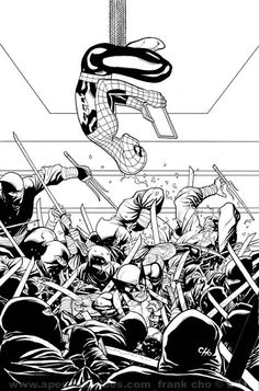 Variant cover to Astonishing Spider-Man & Wolverine #1 by Frank Cho