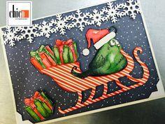 Crazy Bird Christmas Card class at Chico Scrapbooks
