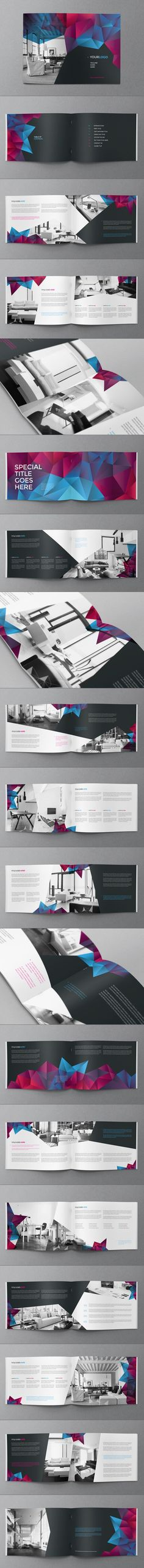 Cool Modern Brochure by Abra Design, via Behance: