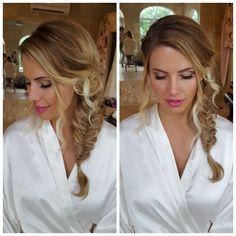 Beautiful bohemian bridal hair and make up. Mua: Gina Petersen USVI #GlamSquad