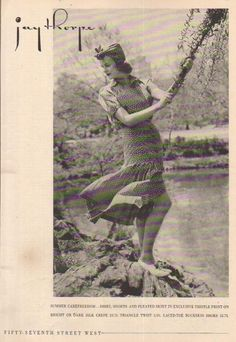 1937 Jay Thorpe Department Store 1930's women's Skirt Fashion/Clothing Photo ad in   eBay