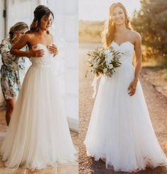 Romantic White A Line Wedding Dress Vintage Lace Tulle Beach Long Bridal Dress Gowns 2016 Fast Shipping Cheap Vestido De Novia
