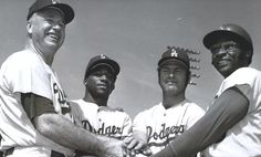 1971 Dodgers - Walt Alston, Al Downing, Joe Moeller and Dick Allen