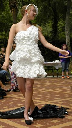 Believe It or Not, A 12-Year-Old Designed This Dress Out of Coffee Filters and Won Ripley's 'Trash Fashion Show'