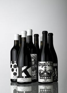 Black and white labels