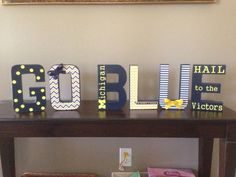 Michigan Man Cave Signs : Custom wood sign as for me and my house..michigan wolverines