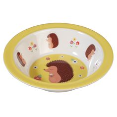 Honey The Hedgehog Melamine Bowl from Rex London - the new name for dotcomgiftshop. Great value gifts and homeware in original designs. Free UK delivery available.