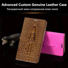 Cover For Samsung Galaxy S6 Edge G9250 High Quality Top Genuine Leather Flip Luxury Case 3D Crocodile Grain Phone Bag +Free Gift