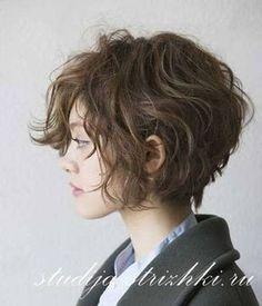 Женская стрижка Боб Каре на волнистые волосы, вид сбоку, фото 2