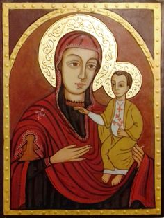 Isten Anyja a gyermek Jézussal Papp István  ikonja Máriapócs 1676.