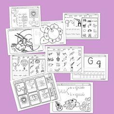 Fichas de Lectoescritura con la G