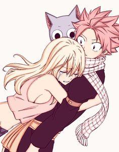 Natsu x Lucy hug