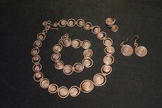 copper jewelery,copper jewelry set,copper earring,copper necklace,copper ring,copper bracelet,wire wrapped jewelry,handmade,unique gift