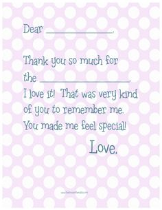 Fill In The Blank Thank You Note Printables For Kids  Free