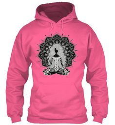 Yoga Girl Lotus Position Hoodie Candyfloss Pink Sweatshirt Front Yoga hoodie, workout fitness hoodies, hooded pullover sweatshirt many colors and sizes great with casual outfits, draw string, front pouch pocket, long sleeve, fashion apparel, mens womens fashion, cool, graphic