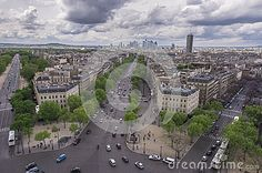 Bird's eye view on the center of Paris
