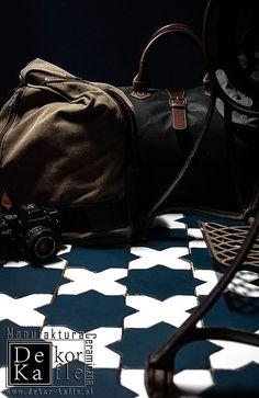 Mozaika podłogowa ręcznie robiona - Gwiazdy i Krzyże